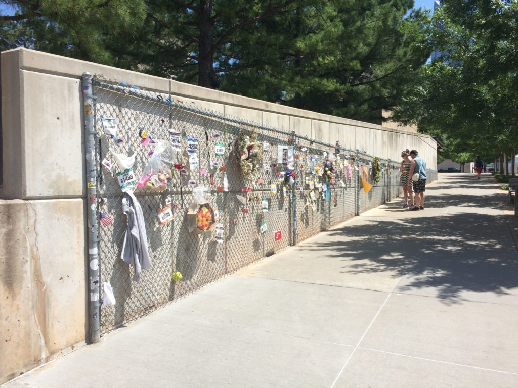 fence with memorials