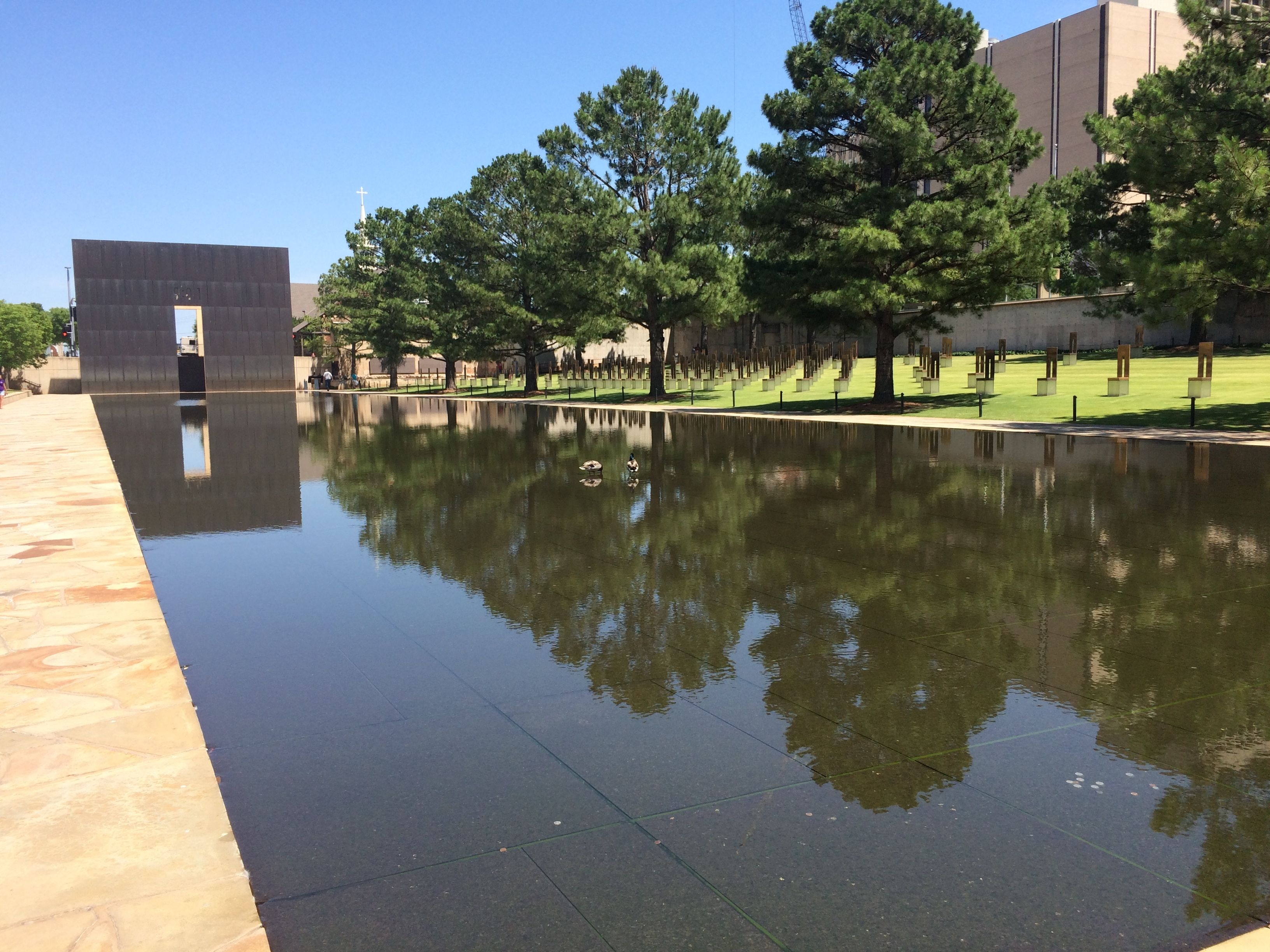 Oklahoma city bombing towing silver - Reflecting pool ...