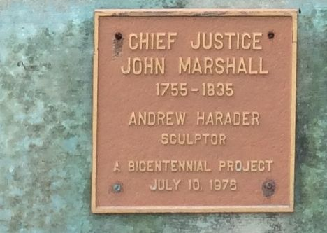 Chief Justice Marshall Plaque