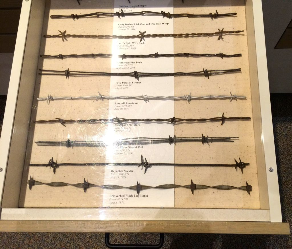 Drawer full of barbed wire