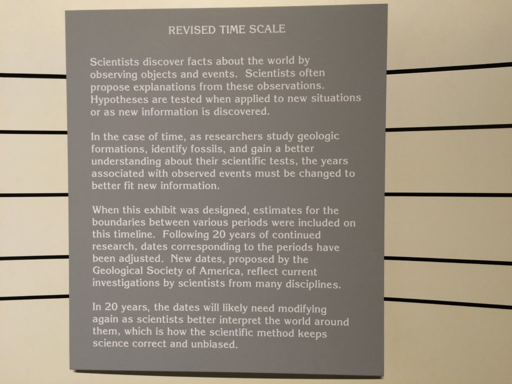 INfo about the time scale