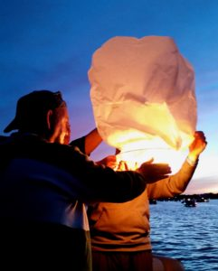 Lighting the Chinese lantern