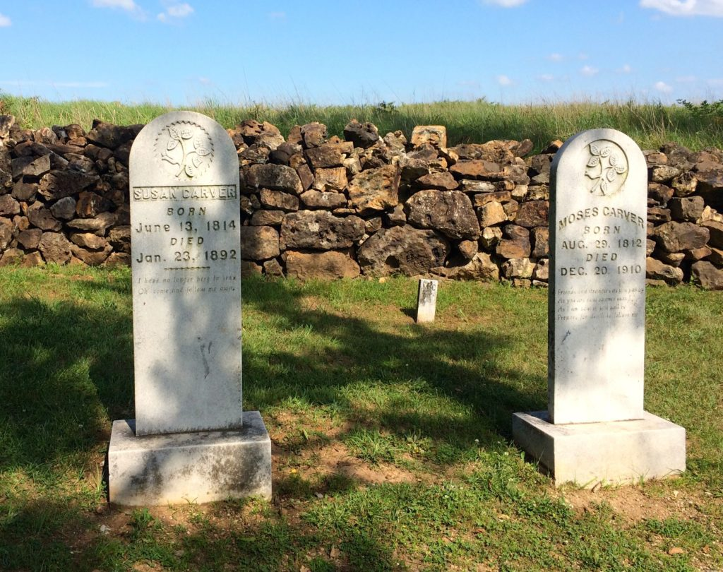 Susan and Mose Carver's graves