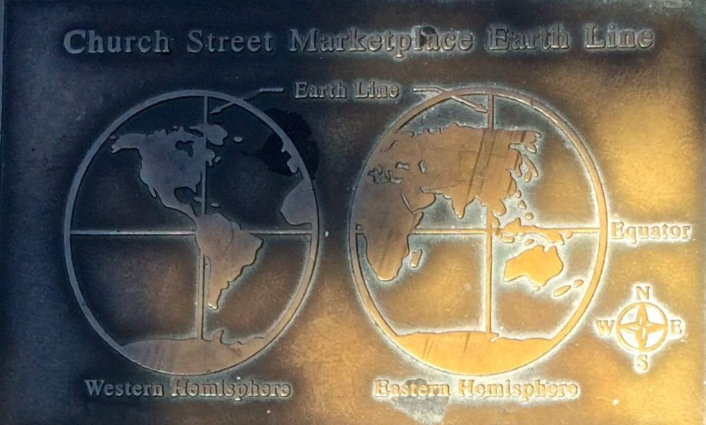 Church Street market Place Earth Line plaque