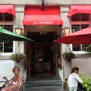 La Sauvagine restaurant for lunch