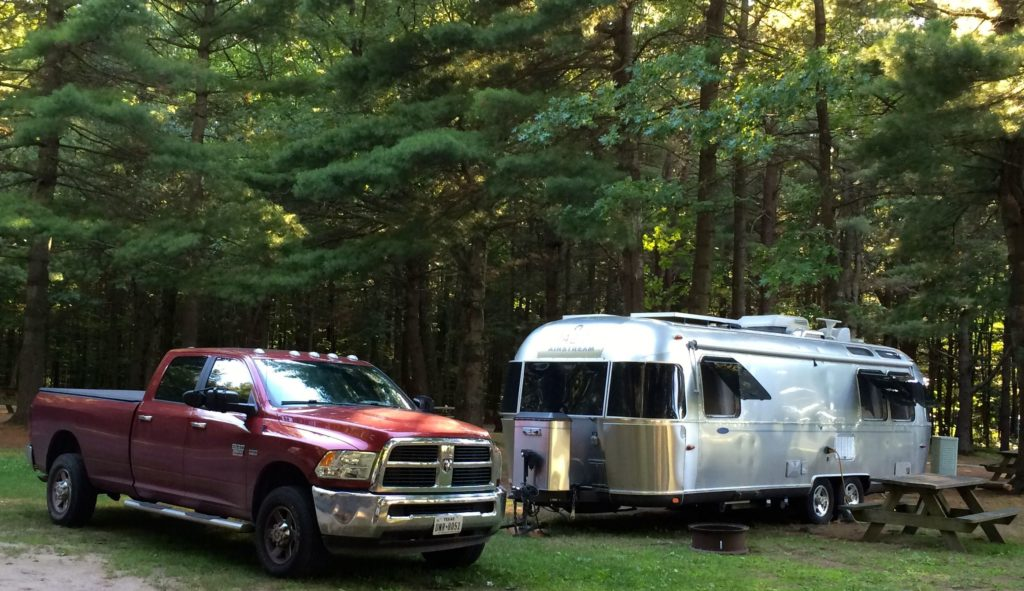 My site at Malletts Bay Campground