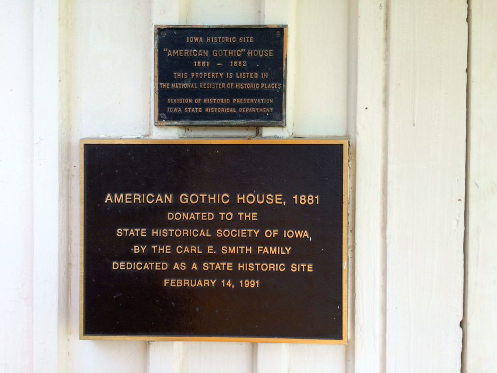 Plaques by the door