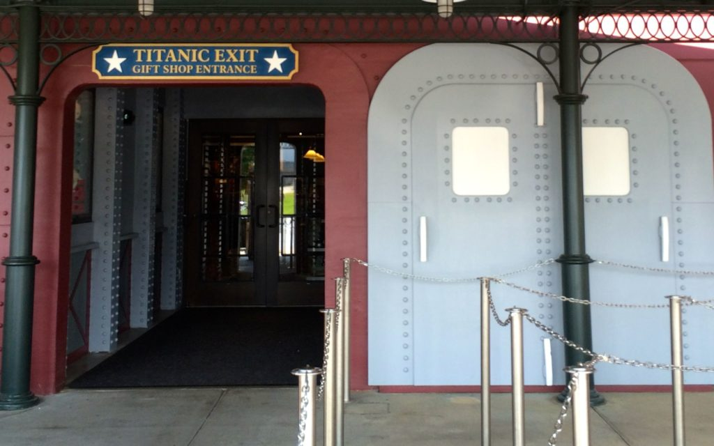 Titanic Exit and gift shop