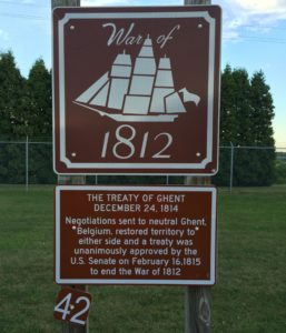War of 1812 sign