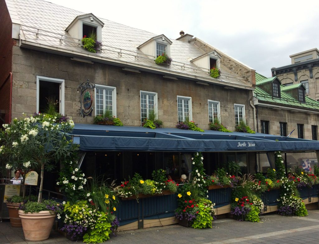 restaurant with flowers