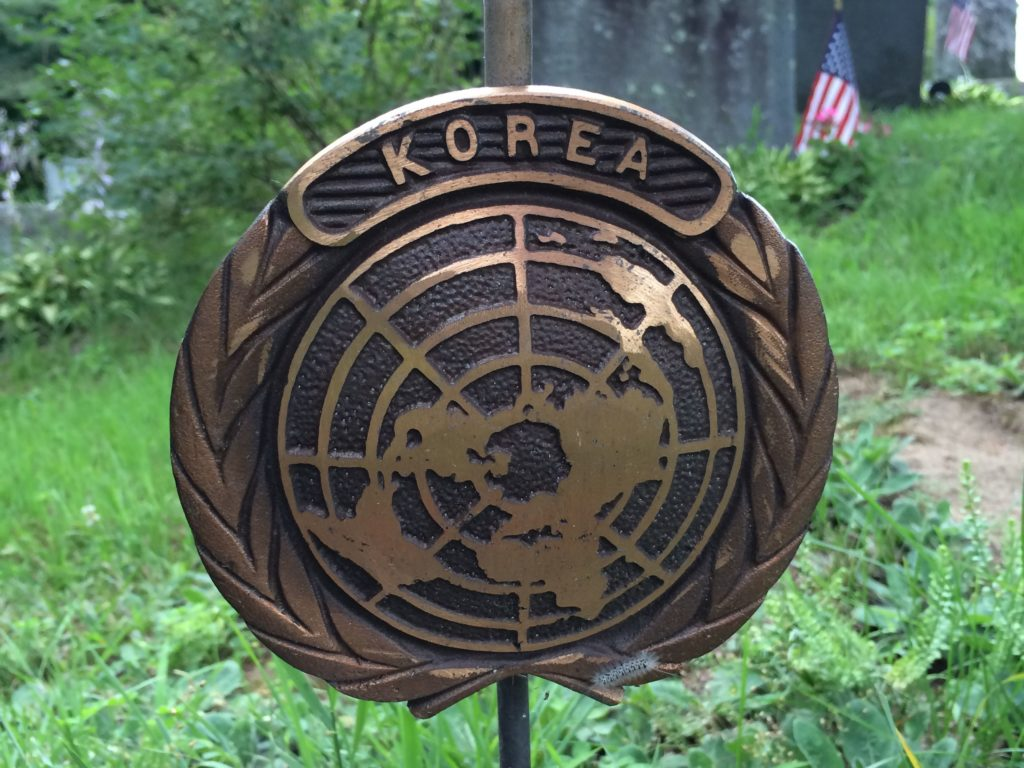 Korea flag holder