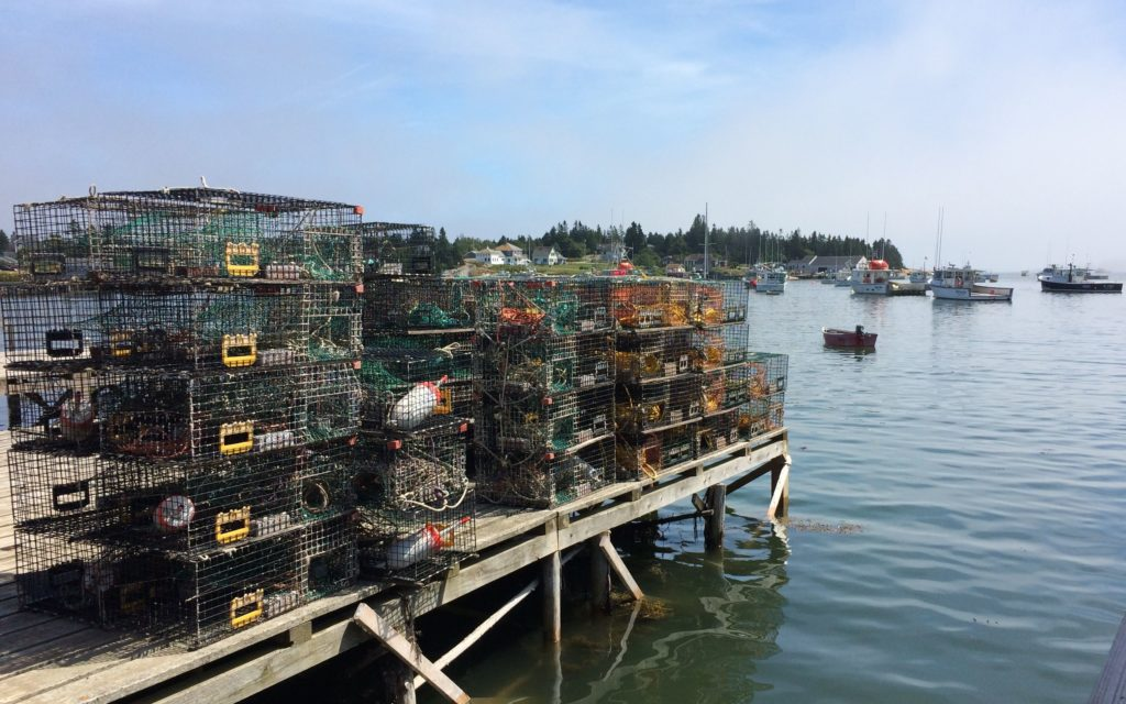 lobster-pots-on-the-wharf-in-corea