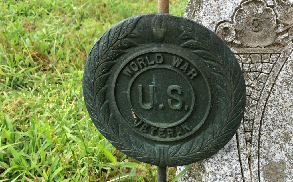 World War I flag holder