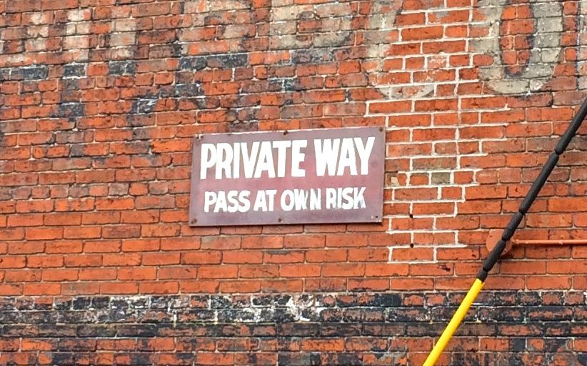 private-way-pass-at-own-risk
