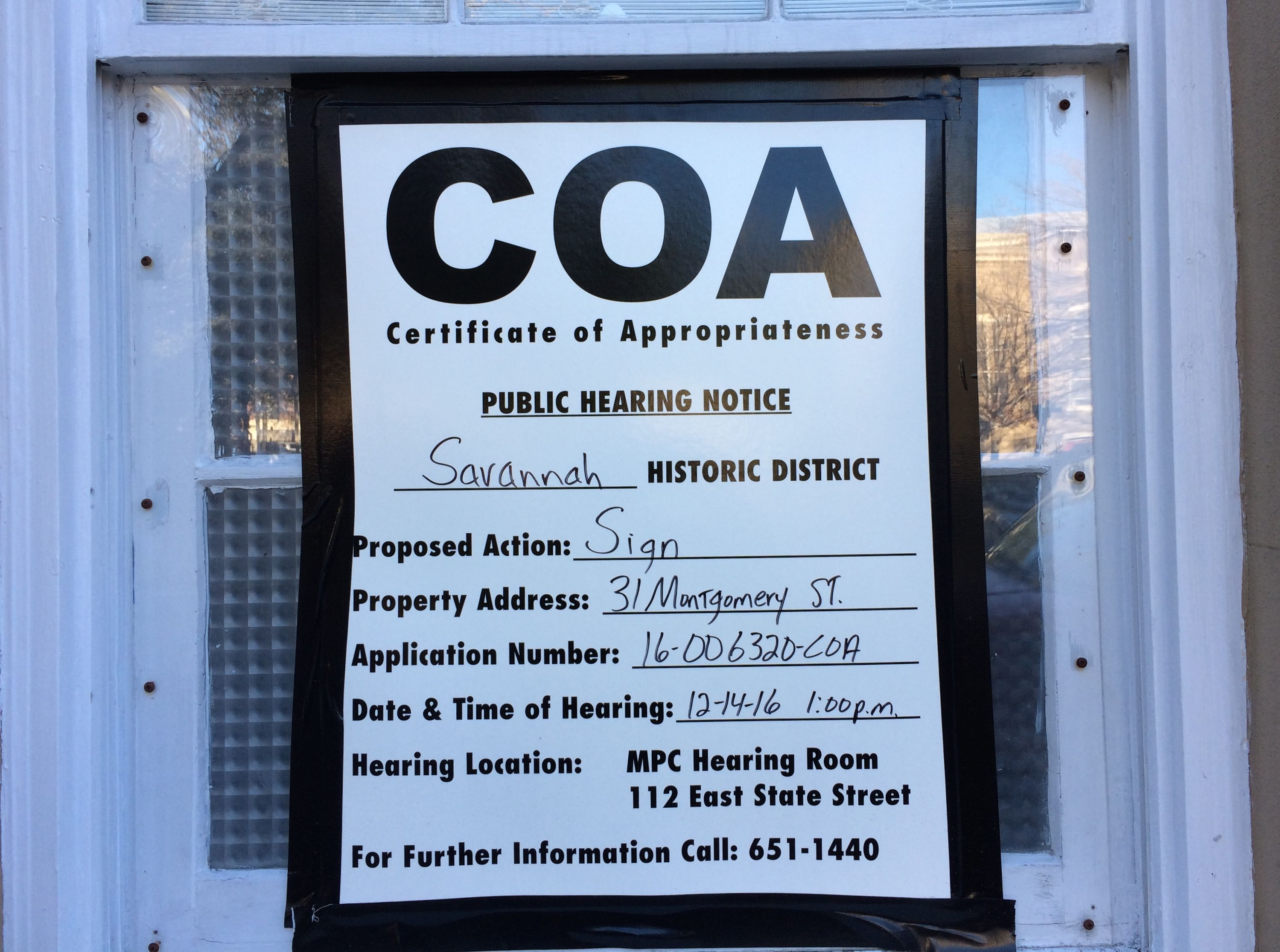 Certificate of Appropriateness – Towing Silver
